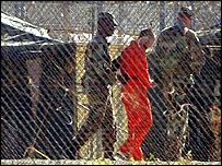 Guantanamo inmate and guards