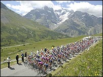 The Tour goes up the Col du Galibier, one of the toughest climbs of this year's route