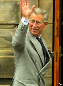 Prince Charles arrives at St Andrews