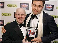 Little Britain's David Walliams and Matt Lucas (left)