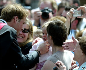 Prince William greets the crowds