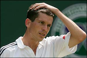 Henman shows his frustration