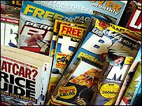 Car magazines at newsagents