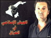 Christian Chesnot in a video grab broadcast on an Arabic television network