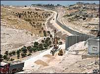 Construcción del muro israelí