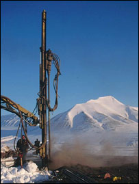 Svalbard drilling in permafrost (Cardiff University)