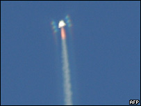 SS1 climbs into the sky (AFP