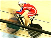 Chris Hoy in action in the kilometre