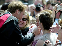 Prince William with well-wishers