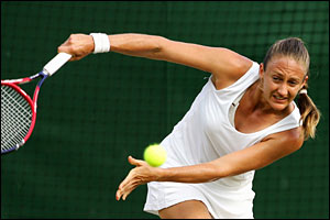 Mary Pierce plays a return
