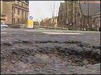 Generic picture of pothole