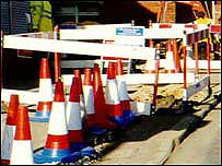 Picture of roadworks