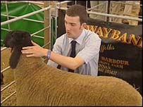 Iain Barbour with one of his sheep