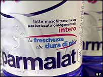 Parmalat milk packaging