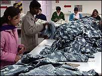Cotton Comfort's factory floor in Nepal