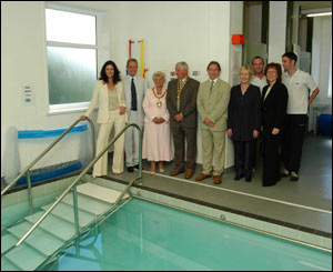 The pool which has cost �280,000 will be used by other disabled groups