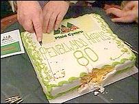 Plaid Cymru birthday cake