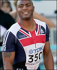 Great Britain's Mark Lewis-Francis comes fourth in his first race
