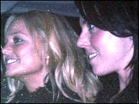 Emma Bunton (l) and Melanie Chisholm
