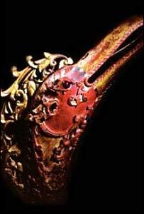 Processional carving representing the head of Garuda