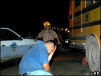 Scene of attack on Honduran bus