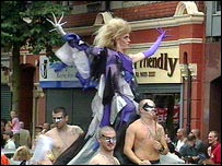 One of the floats at the Belfast Gay Pride march