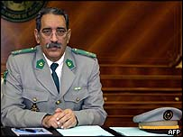 Mauritania's self-appointed head of state Col Ely Ould Mohamed Vall