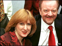 Robin Cook and wife Gaynor