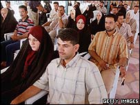 Couples at the Shia mass wedding ceremony in Baghdad