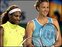 Serena Williams and Lindsay Davenport