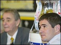 Nigel Clough (right) with his late father Brian
