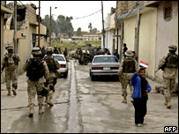US troops and Iraqi National Guard patrol together