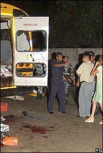 Scene of attack on Honduran bus