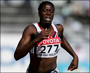 Great Britain's Christine Ohuruogu in 400m action