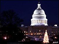 Елка на Капитолийском холме в Вашингтоне