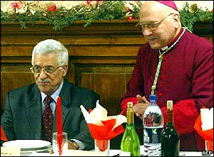 Mahmoud Abbas and Michel Sabbah