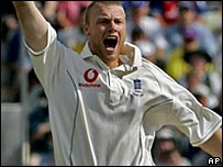 Flintoff was named man of the match in England's thrilling win