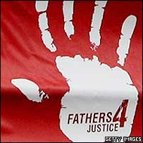 A Fathers for Justice banner
