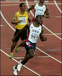 Olympic champion Justin Gatlin is ecstatic