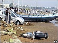 Madras beach damage