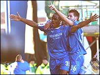 Cameron Jerome celebrates his goal