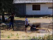 Flooded homes on the Thai island of Phuket (courtesy of Maurice de Jong)