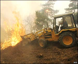 Blaze in Esparon du Verdon, France
