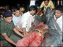 Bomb scene in Assam