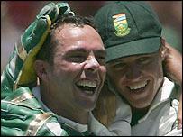 Nicky Boje and AB de Villiers
