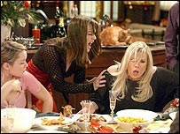 A scene from EastEnders' Christmas Day episode