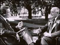 Peter Jennings interviewing Mikhail Gorbachev