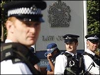 Armed police officers outside Belmarsh prison