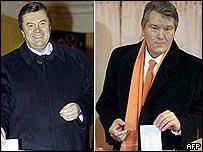 Viktor Yanukovych and Viktor Yushchenko