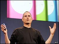 Steve Jobs, Apple's chief executive, launching iTunes in Japan